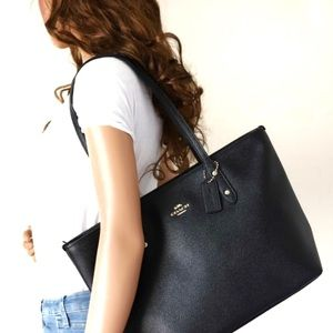 Coach F58846 Leather City Zip Tote